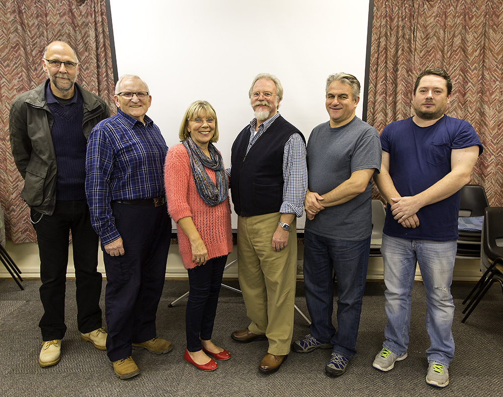 From left to right; Dylan Snashall, John Desborough, Sheila Higgs, Andrew Perry (Judge), Vince Knight, Paul Jenking